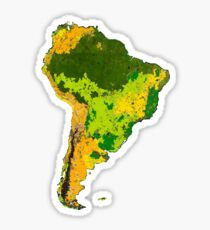 Physical South America Sticker
