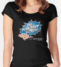 Pork Chop Express - Distressed Blue Variant Women's Fitted Scoop T-Shirt