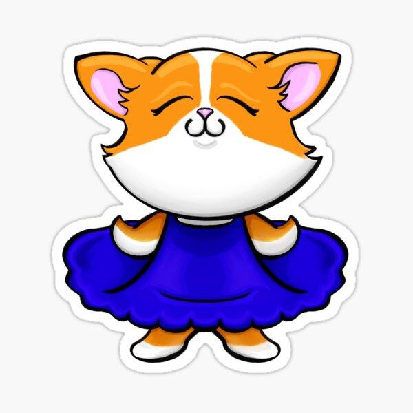 Happy Corgi Cartoon Sticker