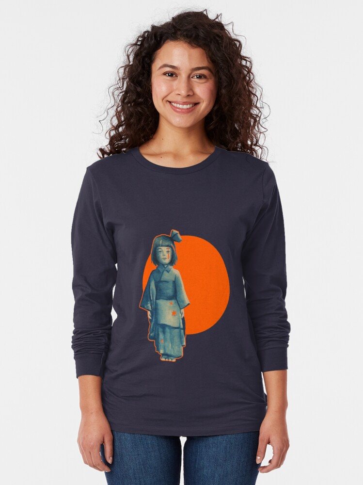 Alternate view of little girl in blue Long Sleeve T-Shirt
