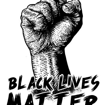 Black Lives Matter Race Unity Say No Racism T-shirt by Coldink