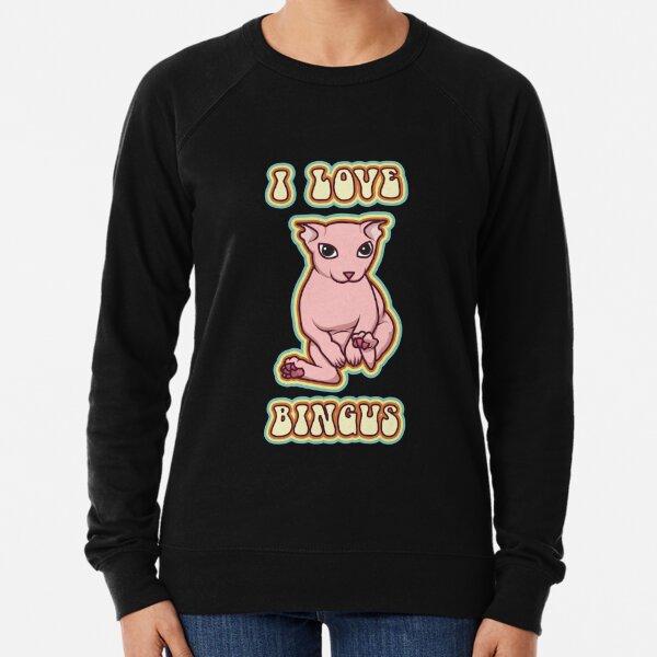 I love Bingus Cat Lightweight Sweatshirt