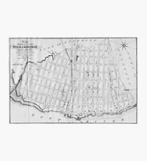 Vintage Map of Williamsburg Brooklyn (1827) Photographic Print