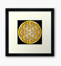 The Golden Flower of Life Framed Print