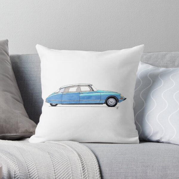 Citroen DS bleu Throw Pillow