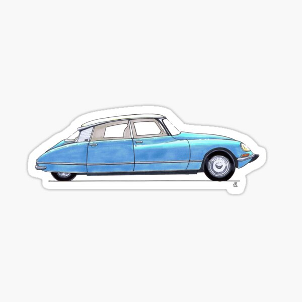 Citroen DS bleu Sticker