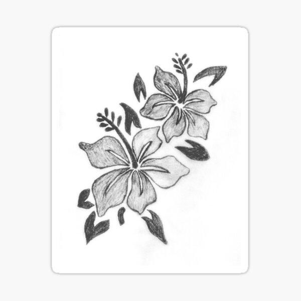 Flower Sketch Sticker