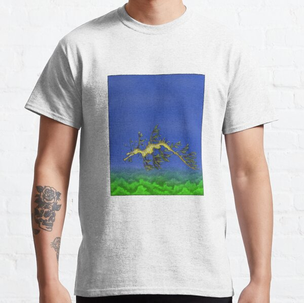 Leafy sea dragon floating in the ocean Classic T-Shirt
