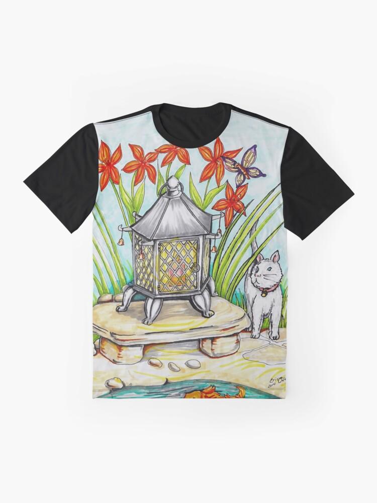 Alternate view of Japanese Lantern Graphic T-Shirt