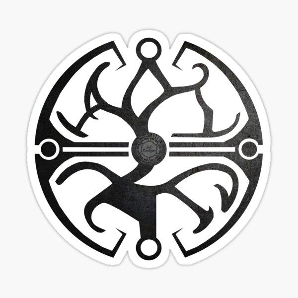 DFC/TLJ Balance Symbol (Black Metal & White) Sticker