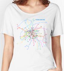 Paris Metro Women's Relaxed Fit T-Shirt