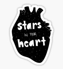 stars in your heart Sticker
