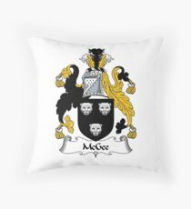 McGee Coat of Arms / McGee Family Crest Throw Pillow