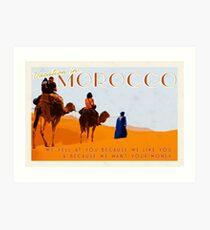 Morocco; prepare yourself  Art Print
