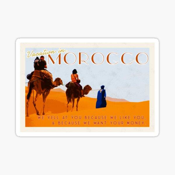Morocco; prepare yourself  Sticker