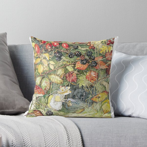 Primrose at the entrance to the tunnels Throw Pillow