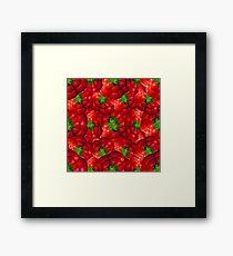 Vegetables pattern composition Framed Print