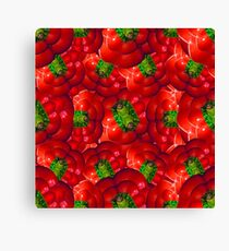 Vegetables pattern composition Canvas Print
