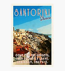Santorini, a one trick pony.  Photographic Print