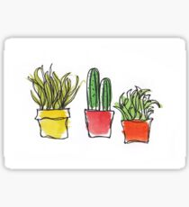 Potted Plants #1 - Watercolour Sketch Sticker
