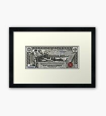 One U.S. Dollar Bill - 1896 Educational Series  Framed Print