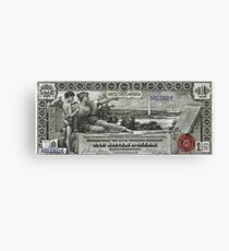 One U.S. Dollar Bill - 1896 Educational Series  Canvas Print