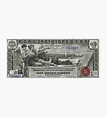 One U.S. Dollar Bill - 1896 Educational Series  Photographic Print