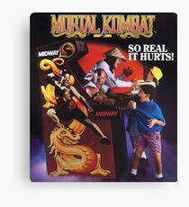 Mortal Kombat So Real It Hurts  Canvas Print