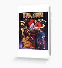 Mortal Kombat So Real It Hurts  Greeting Card