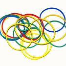 Colourful rubber rings by Remo Kurka