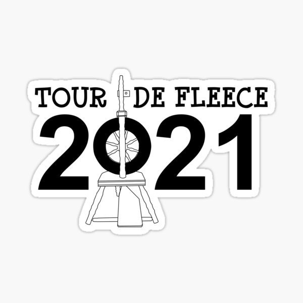 Tour de Fleece 2021 (Black) Sticker