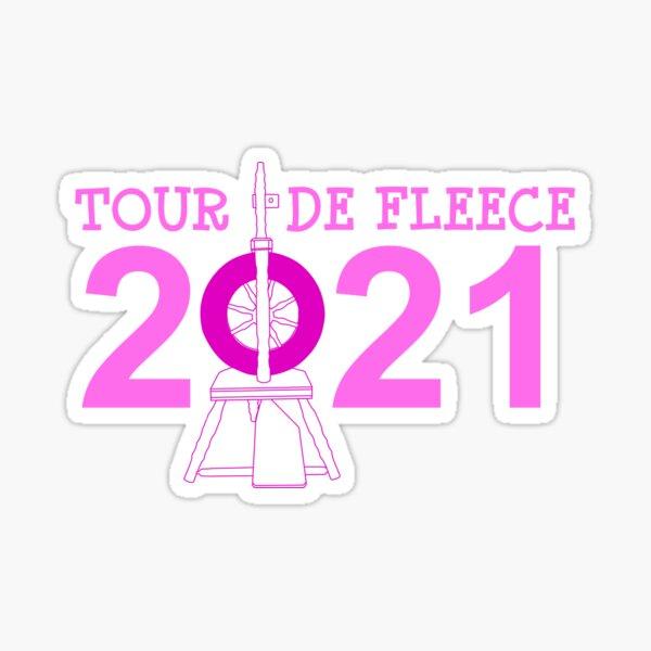 Tour de Fleece 2021 (Pink) Sticker