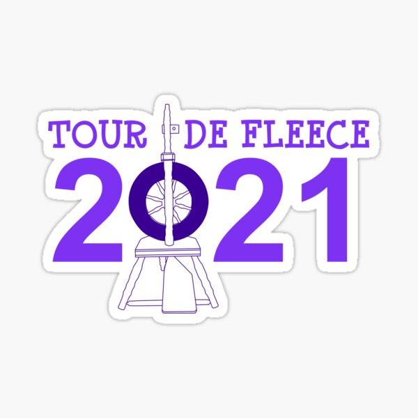 Tour de Fleece 2021 (Purple) Sticker