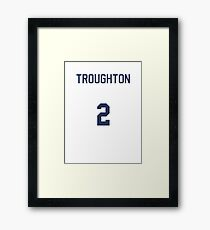 Doctor Who Sports Shirt- TROUGHTON Framed Print