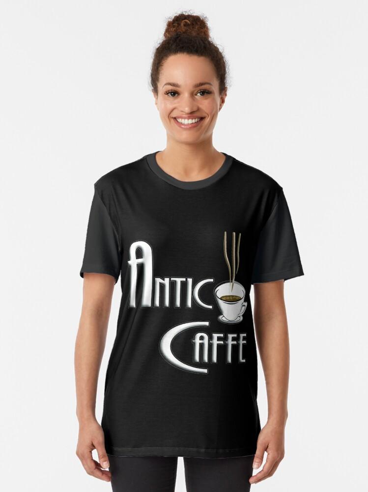 Alternate view of Antico Caffe Graphic T-Shirt