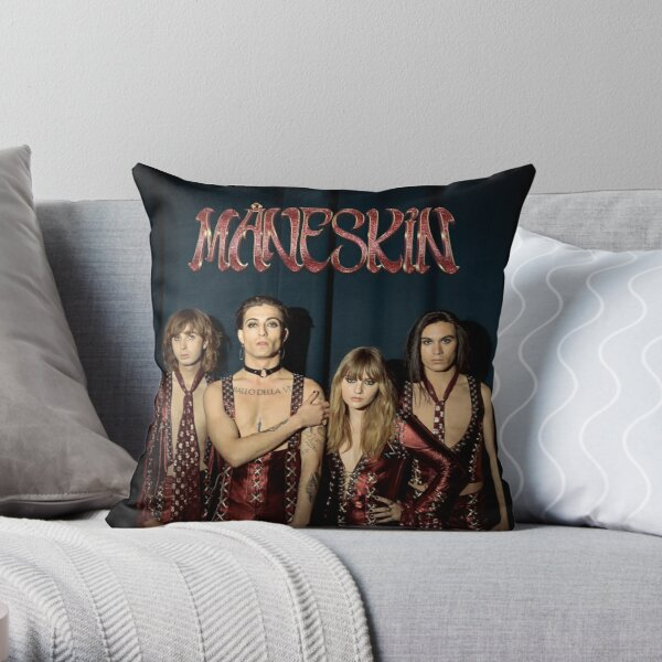 Måneskin rock band Maneskin Throw Pillow
