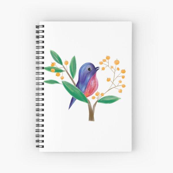 Bird in the spring Spiral Notebook