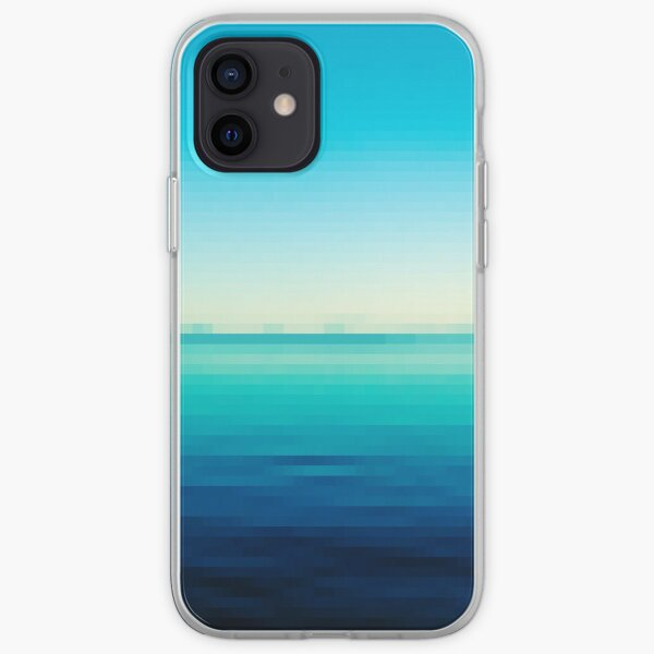 Lake Taupo in Pixels iPhone Soft Case