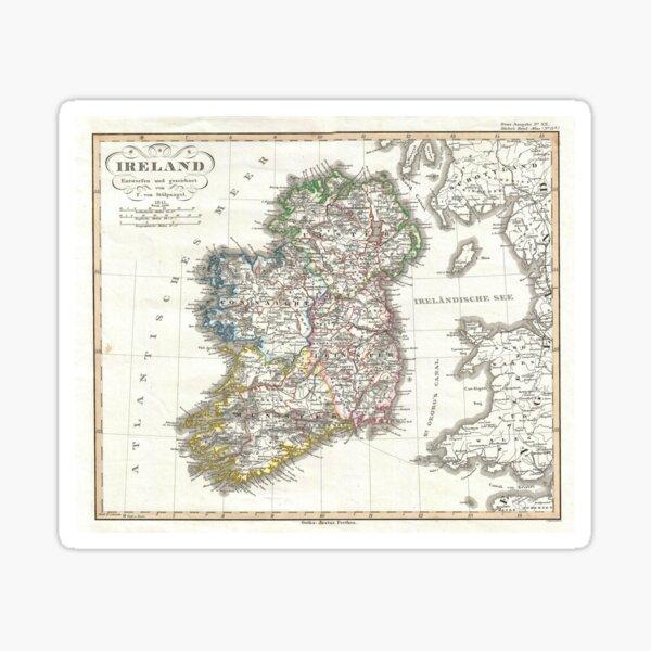 Vintage Map of Ireland (1841) Sticker