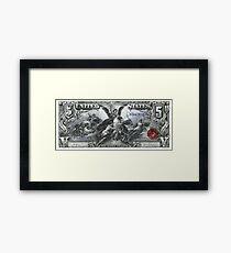Five U.S. Dollar Bill - 1896 Educational Series  Framed Print