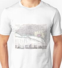 Vintage Map of Calcutta India (1842) Unisex T-Shirt
