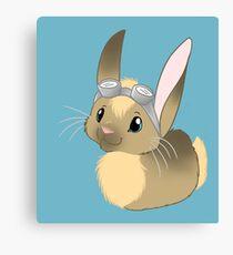 Goggle Bunny Canvas Print