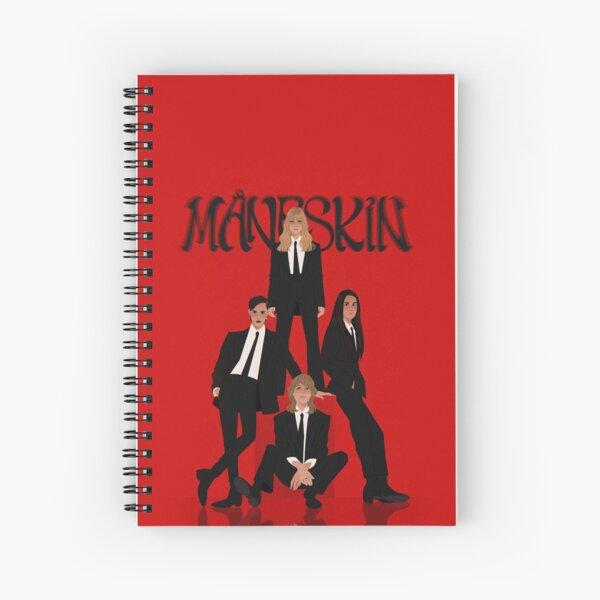 Måneskin rock band Maneskin Spiral Notebook