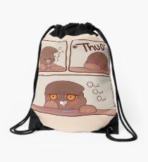 Insomniac Confused Rock Pigeon Drawstring Bag