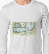 Vintage Map of Niagara Fall NY (1843) Long Sleeve T-Shirt