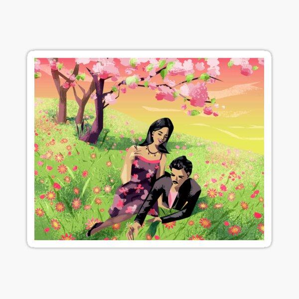 Bella und Mortimer Goth Sticker