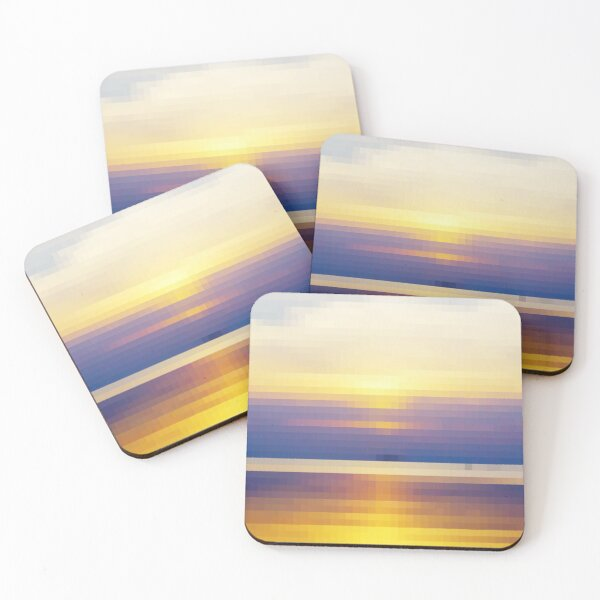 Thai Sunset in Pixels Coasters (Set of 4)