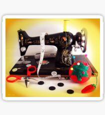 Vintage Mini Sewing Machine Sticker