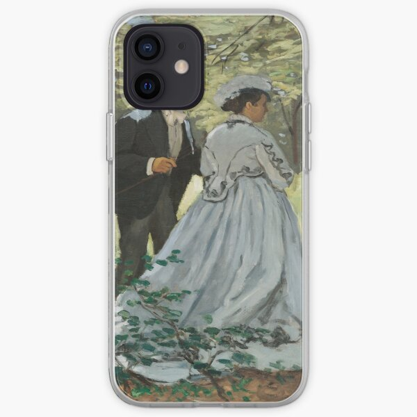 Bazille and Camille (1865) by Claude Monet iPhone Soft Case