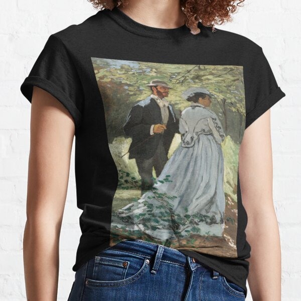 Bazille and Camille (1865) by Claude Monet Classic T-Shirt